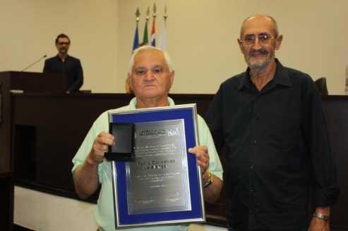 Pedro Alencar recebe homenagem na Câmara de Cordeirópolis
