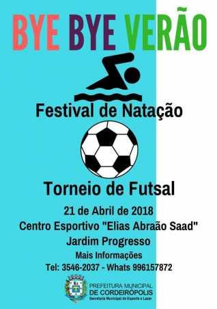 Festival de Natação e Torneio de Futsal em Cordeirópolis