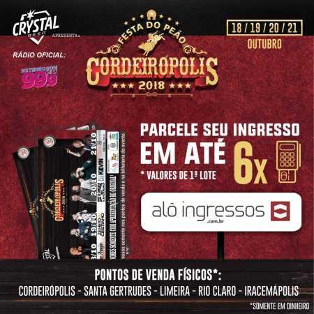 Ingressos da Festa do Peão de Cordeirópolis já podem ser adquiridos online e nos pontos de venda