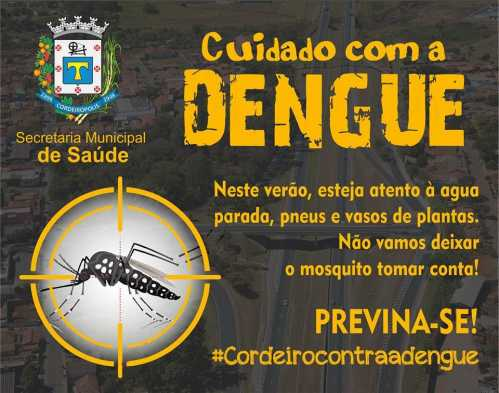Secretaria de Saúde de Cordeirópolis orienta moradores no combate à dengue no verão