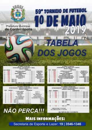 Tradicional Torneio de Futebol 1º de Maio contará com a participação de 40 equipes