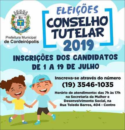 Conselho Tutelar de Cordeirópolis: Inscrições estão abertas para novo processo seletivo