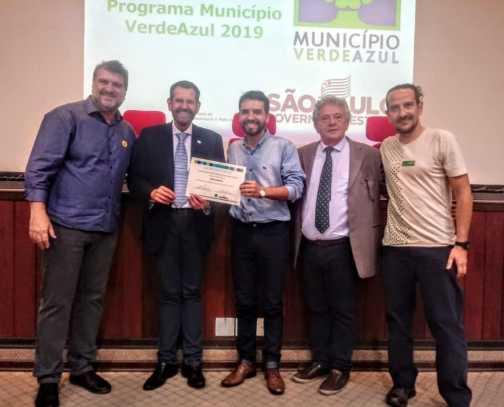 """Cordeirópolis recebe pela segunda vez o Certificado de Qualificação do Programa """"Município Verde Azul"""""""