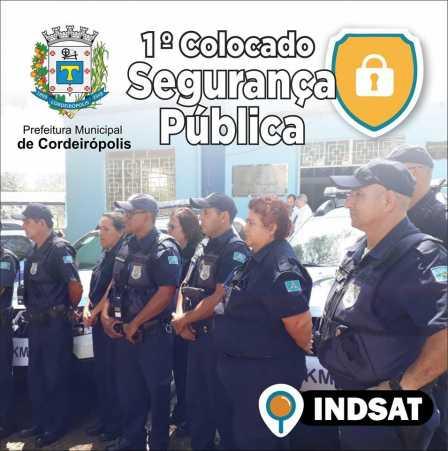 Cordeirópolis tem a melhor Segurança Pública aponta pesquisa do INDSAT