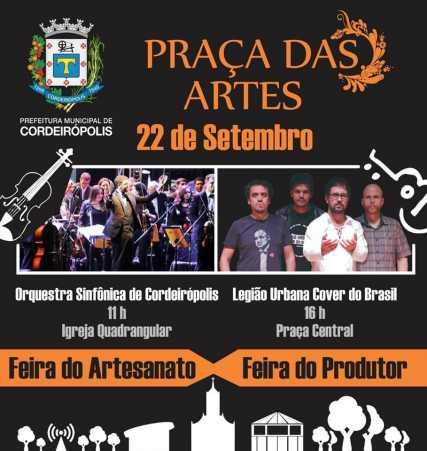 Próxima edição da Praça das Artes terá show de rock e Orquestra Sinfônica