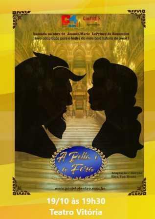 A Bela e a Fera é neste sábado, no Teatro Vitória em Limeira