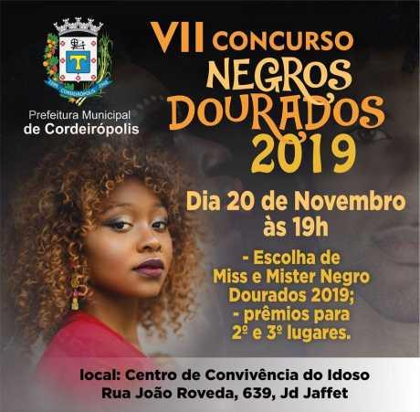 7ª edição do Concurso Negros Dourados ocorrerá no dia 20 de novembro