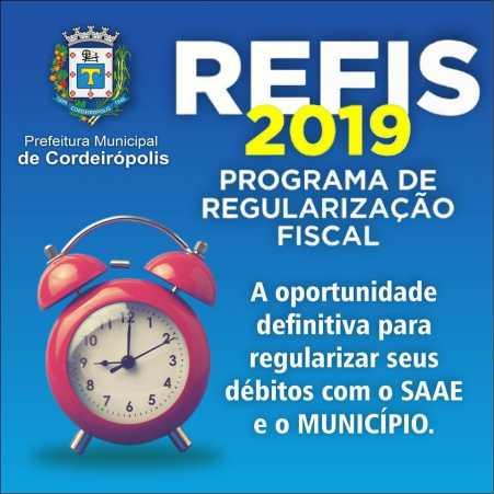 Prefeitura de Cordeirópolis abre Refis 2019 e oferece chance para contribuinte acertar dívidas