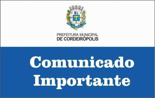 Comunicado do Posto de Atendimento ao Trabalhador de Cordeirópolis
