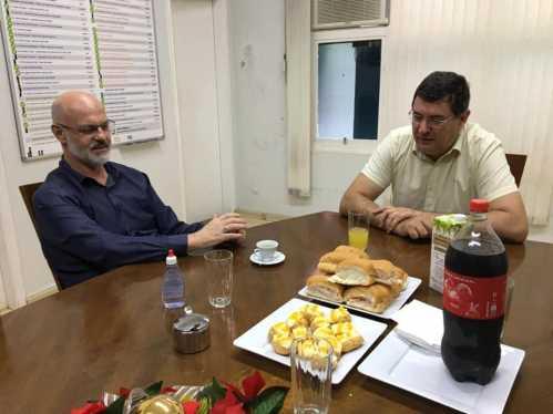 Prefeitura recebe novo padre da Paróquia Santo Antônio