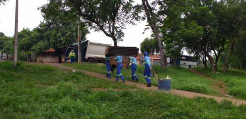 Prefeitura de Limeira faz abordagem social em área verde do Jd. Alvorada