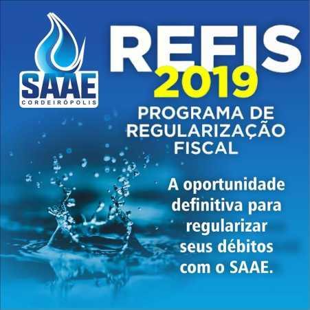 SAAE concede desconto em juros e multas através do programa REFIS