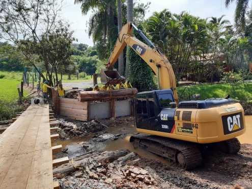 Prefeitura de Limeira inicia reconstrução de ponte no bairro dos Lopes