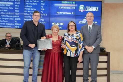 Luiza Scarabel é a mais nova cidadã limeirense