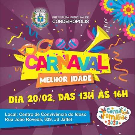 Programação de Carnaval começa nesta quinta (20) com matinê no CCI