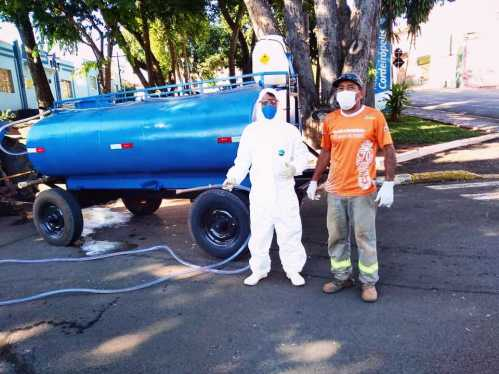 Desinfecção de ruas de Cordeirópolis agrada população e minimiza proliferação do vírus