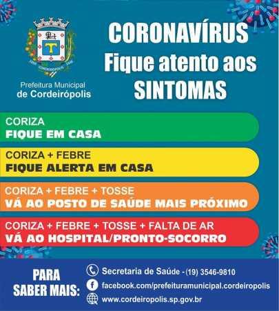 #Coronavírus: quando devo procurar a Unidade de Saúde e o Hospital?