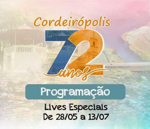 Aniversário de Cordeirópolis será marcado por serenatas e lives de artistas locais
