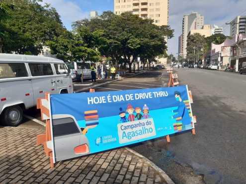 Praça Toledo Barros em Limeira recebe drive-thru da Campanha do Agasalho