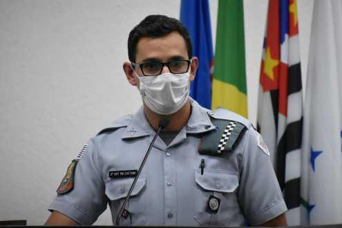 Comandante da PM usa Tribuna Livre da Câmara de Cordeirópolis