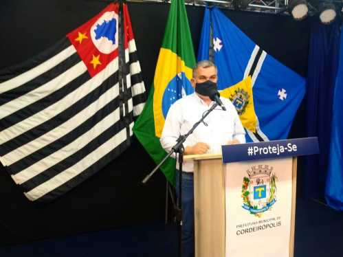 Novas medidas para conter o avanço de Covid-19 são tomadas em Cordeirópolis