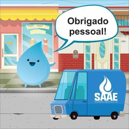 Saaezinho é o nome escolhido para o mascote do SAAE Cordeirópolis
