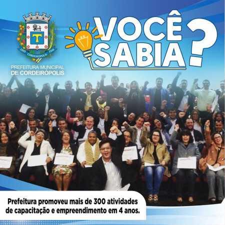 Prefeitura de Cordeirópolis ofereceu mais de 300 cursos de capacitação e atividades para moradores