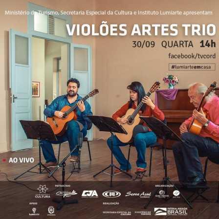 """LIVE - Projeto """"Violões Artes Trios"""" faz show remoto nesta quarta-feira"""