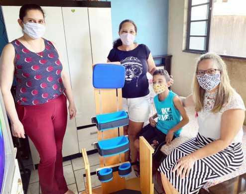 Fundo Social de Cordeirópolis realiza entrega de mais um Parapodium