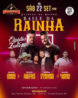 Baile da Rainha apresentará neste sábado (22) a realeza da Festa do Peão de Cordeirópolis 2018