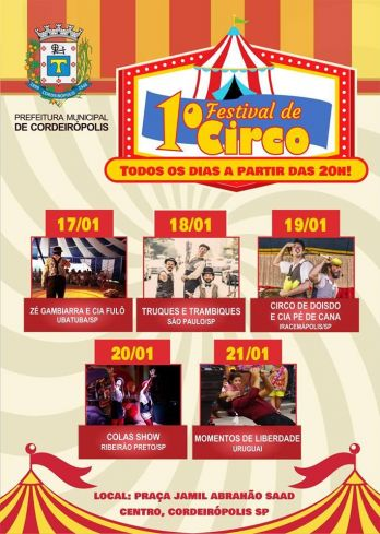 Festival de Circo chega à Cordeirópolis pela 1ª vez