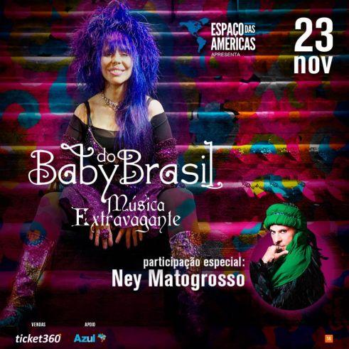 Baby do Brasil chega ao Espaço das Américas com turnê