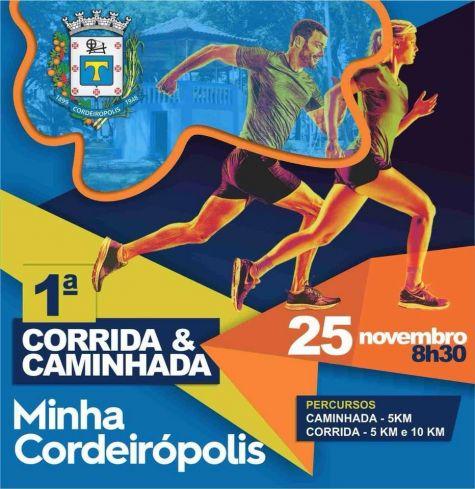 Prefeitura promove a 1ª Corrida e Caminhada - Minha Cordeirópolis