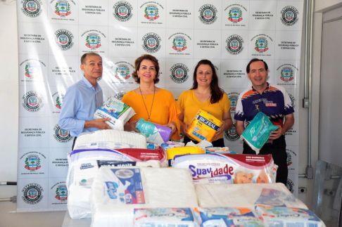 Doação de fraldas é entregue ao Fundo Social de Solidariedade