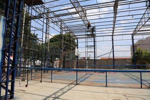 Obras prosseguem no Centro Comunitário do Jardim Ouro Verde em Limeira