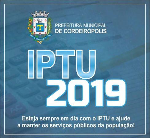 Com datas distintas, IPTU 2019 evitará filas longas em Cordeirópolis