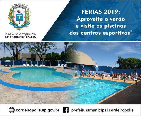 Temporada de férias: confira as opções de lazer em Cordeirópolis