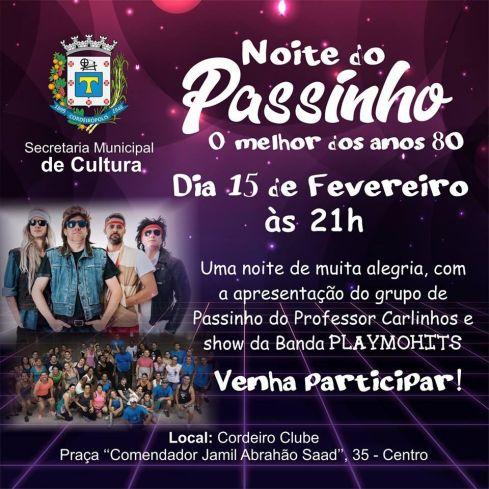 Noite do passinho será promovida hoje em Cordeirópolis