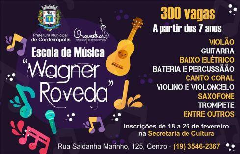 Prefeitura lança projeto de música para 300 pessoas de Cordeirópolis