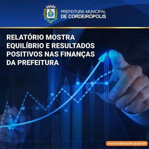 Relatório mostra equilíbrio e resultados positivos nas finanças da Prefeitura de Cordeirópolis