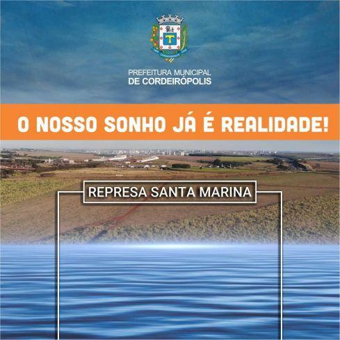 O nosso sonho já é realidade: a construção da Represa Santa Marina!
