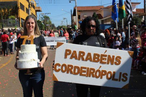 Desfile Cívico marca o início das comemorações dos 71 anos de Cordeirópolis