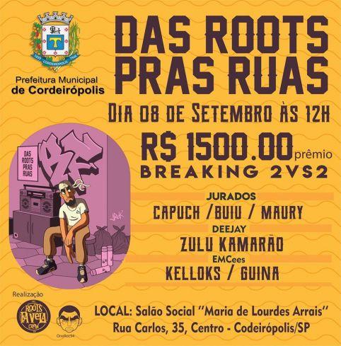 Semana do Hip hop: evento terá batalhas, grafite, skate e música em Cordeirópolis