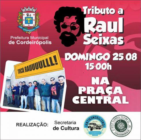 Praça Central de Cordeirópolis receberá tributo a Raul Seixas