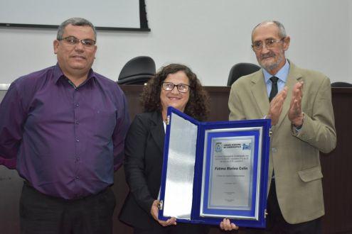 Fátima Marina Celin recebe título de cidadã cordeiropolense