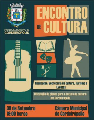 Pré-conferência viabilizará novos projetos para a Cultura de Cordeirópolis