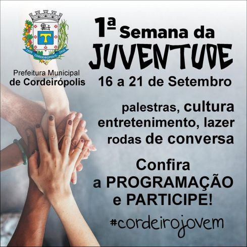 Conselho da Juventude promoverá semana dedicada aos jovens de Cordeirópolis