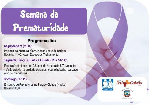Santa Casa de Limeira promove evento sobre prematuridade