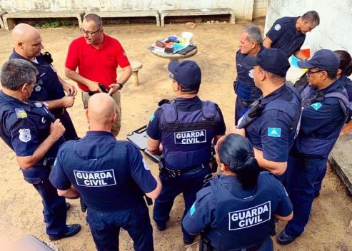 Guarda Municipal de Cordeirópolis participa de curso para uso de armas semiautomáticas