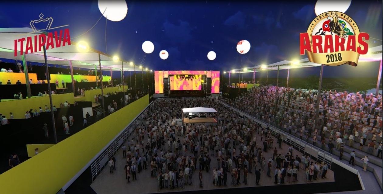 Festa do Peão de Araras 2018 já está com 60% dos camarotes corporativo e familiar vendidos